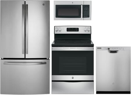 GE  1168848 Kitchen Appliance Package Stainless Steel, main image