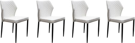 MILODCWH4PK_Milo_Collection_Dining_Chair_(Sets_of_4)_with_White_Diamond_Tufted_Leatherette__White_Powder_Coat_Legs_and_Polyester_Fibers__in