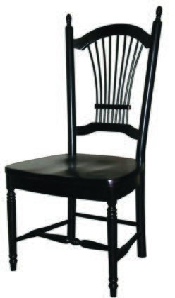 Sunset Trading Sunset Selections DLUC07AB2 Dining Room Chair Black, DLU C07 AB 2
