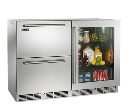 Perlick Signature HP48FRS53R Side-By-Side Refrigerator Stainless Steel, 1