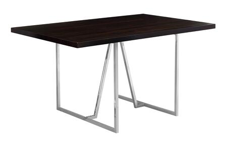 332593 60″ Dining Table with Rectangular Shape  Metal Legs  Contemporary Style  Particle Board and Medium-Density Fiberboard (MDF) Materials in
