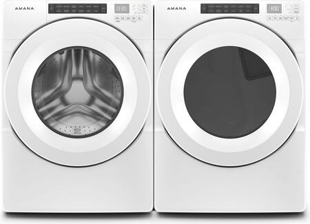 Front Load White Laundry Pair with NFW5800HW 27″ Front Load Washer and NED5800HW 27″ Electric