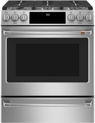 Cafe Matte Collection C2S900P2MS1 Slide-In Dual Fuel Range Stainless Steel, Main Image