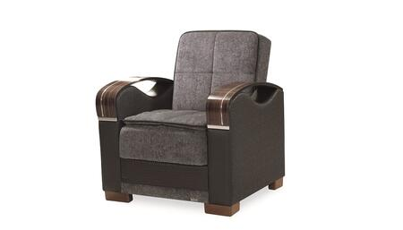 Casamode Bristol BRISTOLCHAIRGRAY26372 Living Room Chair Gray, Main Image