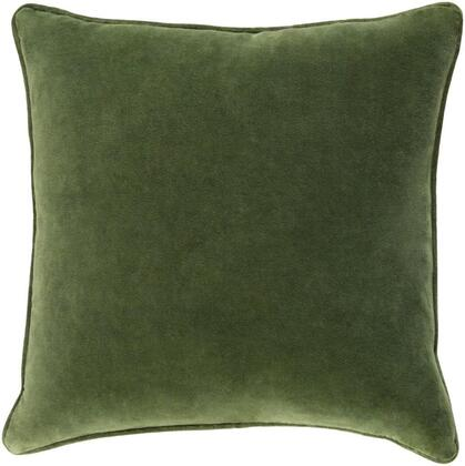 Surya Safflower SAFF71941818P Pillow Green, saff7194 1818