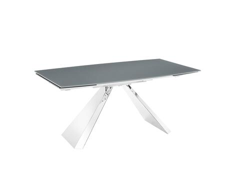 Stanza TC-MT04GRY 71″ – 103″ Motorized Extendable Dining Table with 2 Remote Controls  2 Safety Lock Keys  Rectangular Shape  Low-Iron Grey Painted