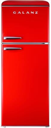 Galanz  GLR10TRDEFR Top Freezer Refrigerator Red, GLR10TRDEFR Retro Top Freezer Refrigerator