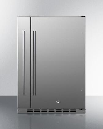 Summit  SPR196OS24 Compact Refrigerator Stainless Steel, SPR196OS24 Compact Refrigerator