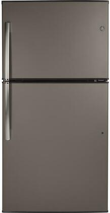 GE GIE21GMLES Top Freezer Refrigerator Slate, Main View