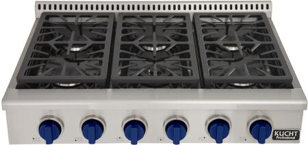 Kucht Professional KRT361GUB Gas Cooktop Stainless Steel, Main Image