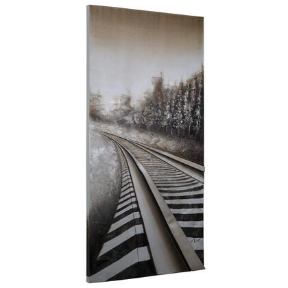 Original Painting Collection DCE216 Long Commute 29.5″ x 59″ Acrylic Painting in Multi