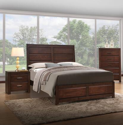 Acme Furniture Oberreit 25787EK3SET Bedroom Set Brown, 3 PC Bedroom Set
