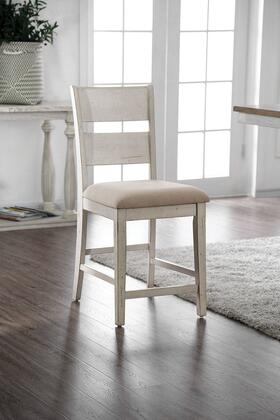 Furniture of America Brigid II CM3858PC2PK Dining Room Chair White, CM3858PC2PK Main Image