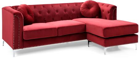 Glory Furniture Pompano G789BSC Sectional Sofa Red, G789BSC Main Image