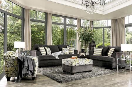 Furniture of America Xochitl SM4130SFSET Living Room Set Gray, Living Room Set