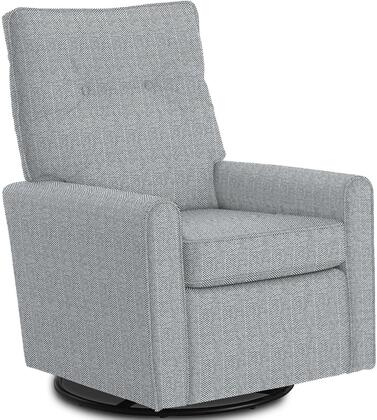 Phylicia Collection 4007-21783B Recliner with 360-Degrees Swivel Glider Metal Base  Removable Back  High Backrest  Zipper Access and Fabric