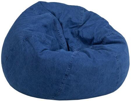 Flash Furniture DGBEAN DGBEANSMALLDENIMGG Bean Bag Chair Blue, DGBEANSMALLDENIMGG