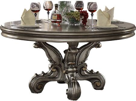 Acme Furniture Versailles 66840 Dining Room Table Silver, Dining Table