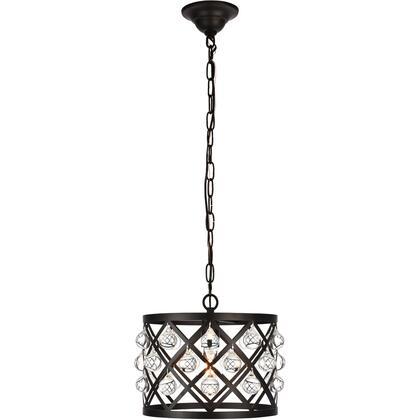 LD6003D13BK Camden 1 Light 13 inch Black Pendant Ceiling