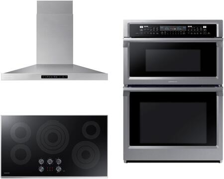 Samsung  1107752 Kitchen Appliance Package Stainless Steel, Main image