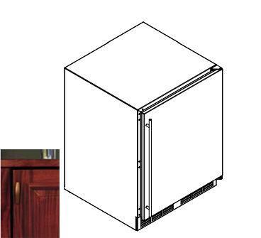 Perlick  HA24FB2R Upright Freezer Panel Ready, 1