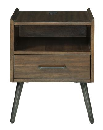 Signature Design by Ashley Calmoni T9162 End Table Brown, T916 2 HEAD ON SW