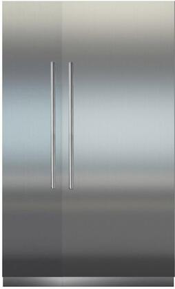 54″ Side By Side Column Refrigerator & Freezer Set with MRB3600 36″ Right Hinge Refrigerator  MF1851 18″ Left Hinge  Door Panels and Round Handles in