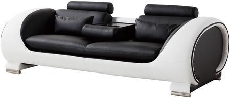 American Eagle Furniture AE-D802 AED802BKWSF Stationary Sofa Black, Main Image