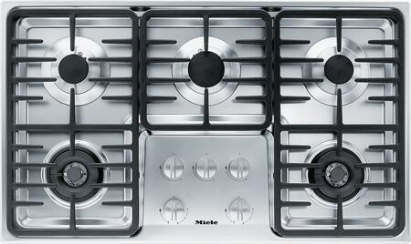 """Miele KM3475GSS 36"""" Stainless Steel Gas Cooktop"""