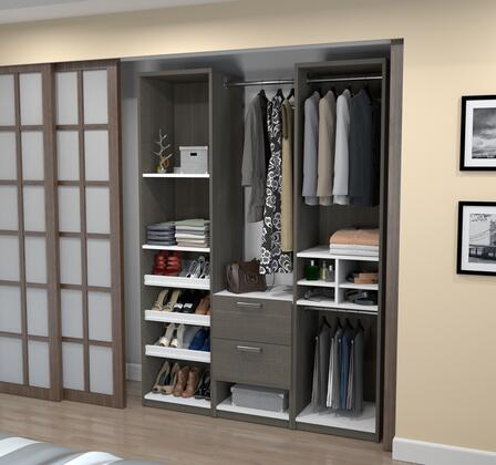 Bestar Furniture 8085347 Wardrobe, bestar cielo bark gray 80853 47 room v5