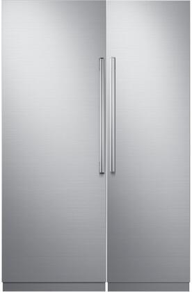 Dacor  772350 Column Refrigerator & Freezer Set Silver Stainless Steel, 1