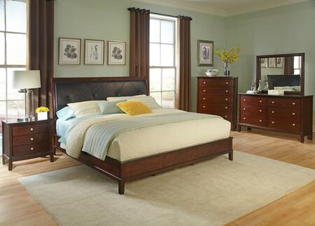 Myco Furniture Denver Collection 5 PC Bedroom Set with Queen ...
