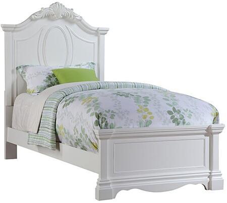 Acme Furniture Estrella 30235F Bed White, Angled View