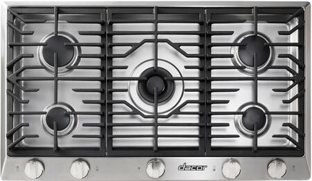 """Dacor Professional HCT365GSNG Gas Cooktop Stainless Steel, HCT365GSNG 36"""" Energy Star Rated Heritage Series Natural Gas Cooktop"""