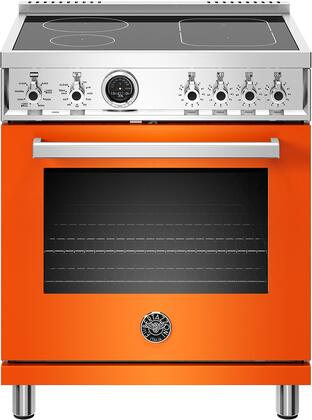 Bertazzoni Professional PROF304INSART Freestanding Electric Range Orange, PROF304INSART  30 inch Induction Range