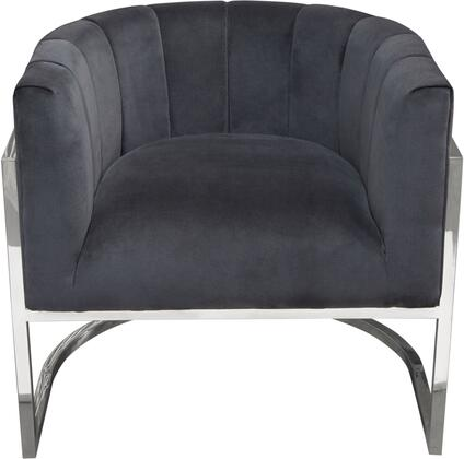Pandora_Collection_PANDORACHMN_Accent_Chair_with_Velvet_Upholstery__Channel_Tufting__Silver_Stainless_Steel_Frame_and_Curved_Back_Design_in