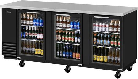 TBB-4SG-N 91″ Super Deluxe Series Back Bar with 36.47 cu. ft. Capacity  Hydrocarbon Refrigerants  Forced Air Cooling System and LED Interior Lighting