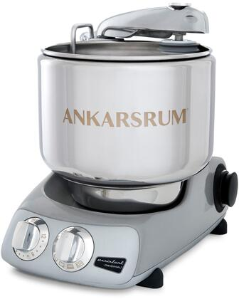 AKM6230JS Ankarsrum Original Mixer with 7 Liter Stainless Steel Bowl  3.5 L Double Whisk Bowl  Dough Hook  Roller  Scraper  Spatula  Dust Cover