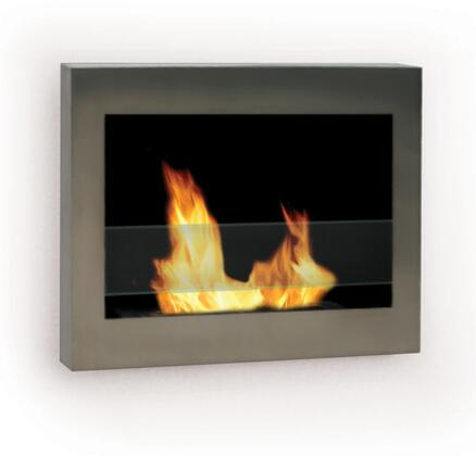 90299 Indoor Wall Mount Eco-Friendly Fireplace In SoHo Stainless Steel