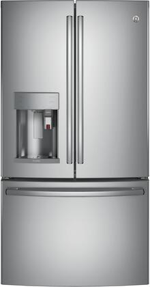 GE Profile PYE22PYNFS French Door Refrigerator Stainless Steel, PYE22PYNFS Front View
