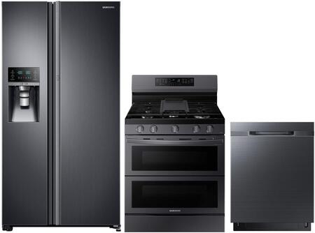 Samsung  1102763 Kitchen Appliance Package Black Stainless Steel, main image