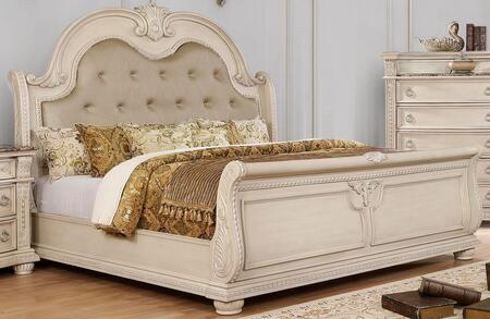 Furniture of America Ammanford CM7560XBED Bed Beige, 1