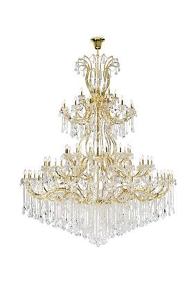 2800G120G/EC Maria Theresa 84 Light Gold Chandelier Clear Elegant Cut