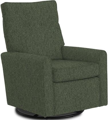 Phylicia Collection 4007-20672C Recliner with 360-Degrees Swivel Glider Metal Base  Removable Back  High Backrest  Zipper Access and Fabric