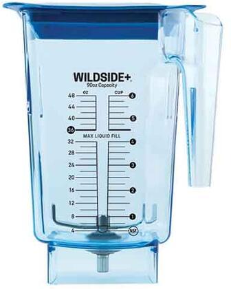40-645-01 90 oz. Blue WildSide Blender Jar with Hard Lid and 4″ Wingtip