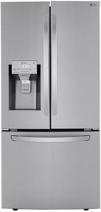 LRFXS2503S 33″ Smart French Door Refrigerator with 24.5 cu. ft. Total Capacity  SmartDiagnosis  Energy Star  in PrintProof Stainless
