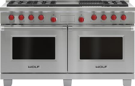 Wolf DF606CG Freestanding Dual Fuel Range Stainless Steel, Main Image