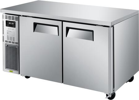 Turbo Air J Series JURF60N Undercounter and Worktop Refrigerator Stainless Steel, JURF60N Angled View