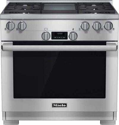 Miele DirectSelect HR11361GDG Freestanding Gas Range Stainless Steel, Main Image