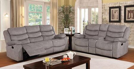 Furniture of America Castleford CM6940SF2SET Living Room Set Gray, Living Room Set